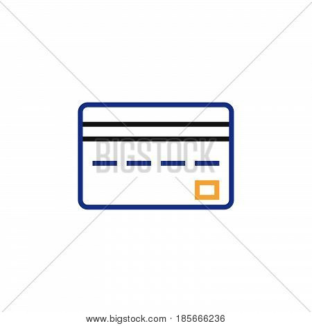 Credit Card Line Icon, Outline Vector Logo, Linear Pictogram Isolated On White, Pixel Perfect Color