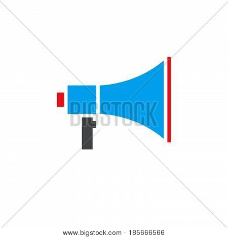 Bullhorn Icon Vector, Megaphone Solid Logo, Pictogram Isolated On White, Pixel Perfect Color Illustr