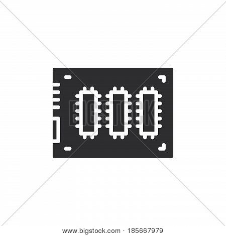 SSD Solid state drive icon vector filled flat sign solid pictogram isolated on white. Symbol logo illustration. Pixel perfect