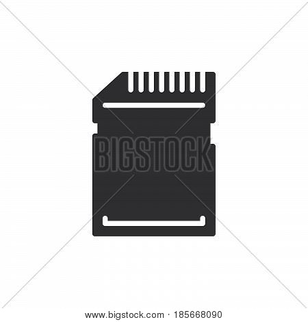 SD card icon vector filled flat sign solid pictogram isolated on white. Symbol logo illustration. Pixel perfect