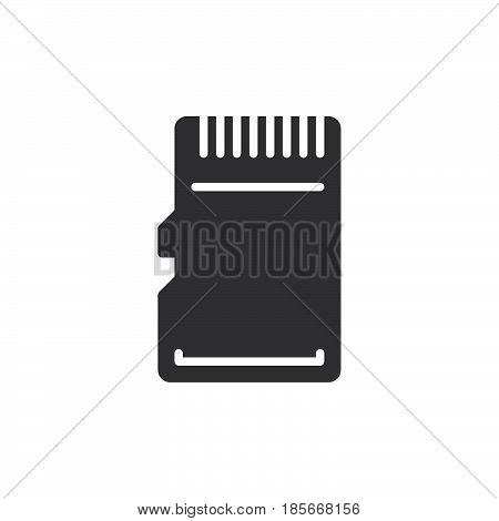 Micro SD Card icon vector filled flat sign solid pictogram isolated on white. Symbol logo illustration. Pixel perfect
