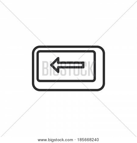 Backspace key line icon outline vector sign linear style pictogram isolated on white. Symbol logo illustration. Editable stroke. Pixel perfect