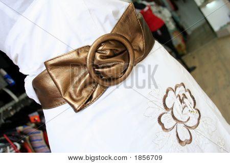 Belt And Golden Flower Design