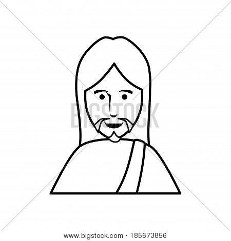 jesus christ icon over white background. vector illustration