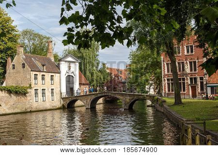 Lake And Bridge In Brugge