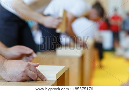 Assistant Stacks The Wooden Boards