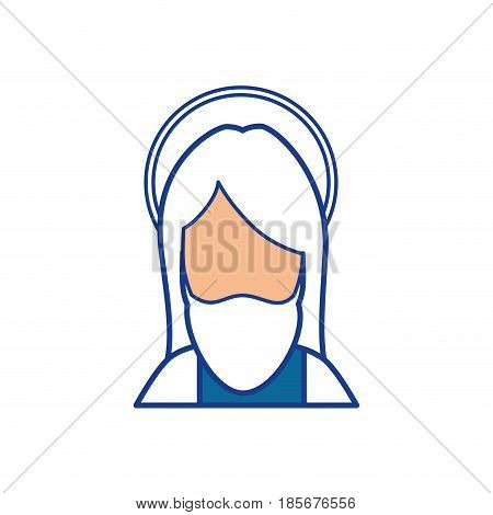 jesus christ with a halo icon over white background. colorful design. vector illustration
