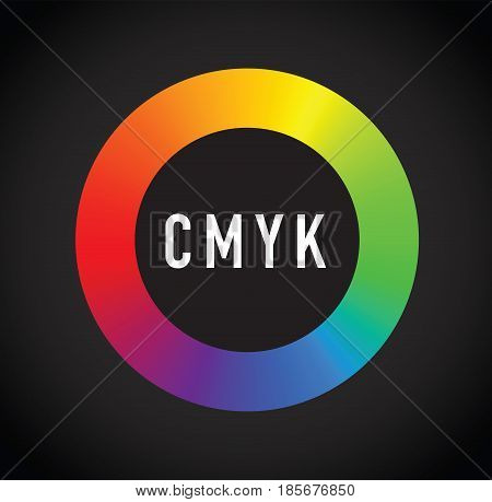 a colourful cmyk round colour selector image