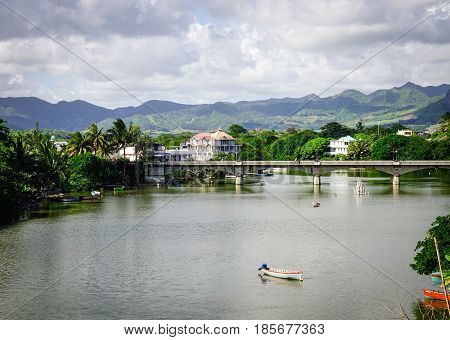 River Scenery In Mahebourg, Mauritius