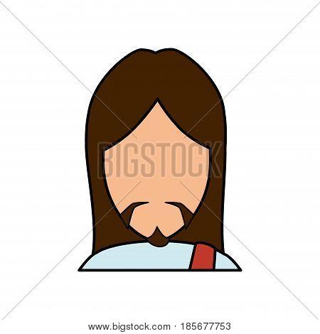 jesus christ icon over white background. colorful design. vector illustration
