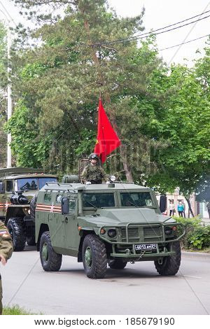Novocherkassk, Russia - May 9, 2017: Military Parade Dedicated To Victory Day In World War Ii