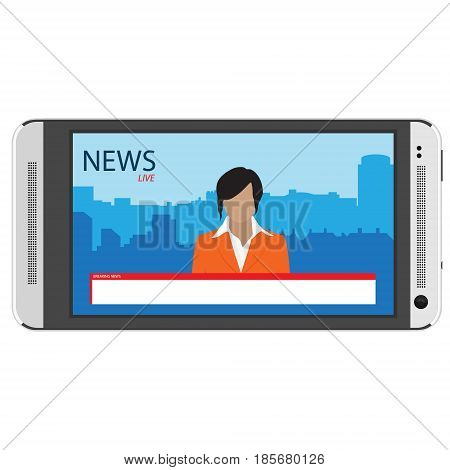 News App On Smartphone