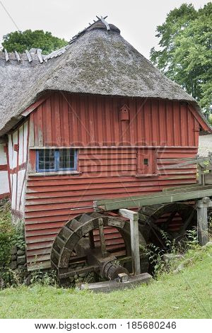 The old water mill near Faaborg Denmark