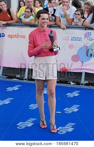 Giffoni Valle Piana Sa Italy - July 22 2016 : Sara Serraiocco at Giffoni Film Festival 2016 - on July 22 2016 in Giffoni Valle Piana Italy