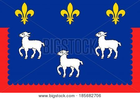 Flag of Bourges is the capital of the department of Cher in central France