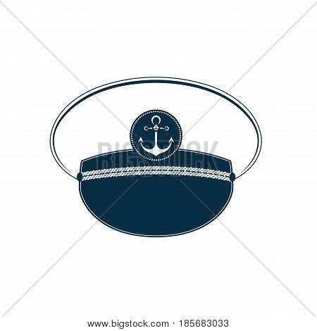 Captain's hat icon. Sailor cap. Marine outfit