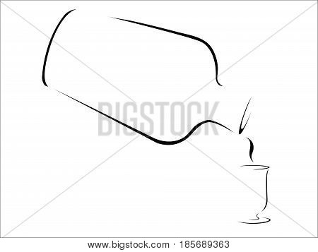 Splash of Whisky- abstract stylized whisky pouring