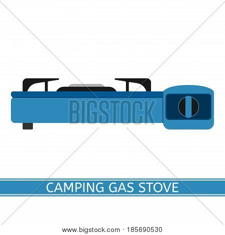 Camping gas stove vector icon. Portable gas-stove isolated on white background in flat style.