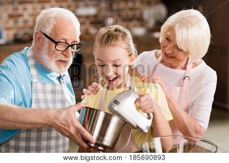 Family Preparing Dough