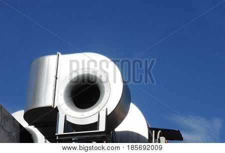 Industrial air conditioning and ventilation systems. Ventilation systems close up.