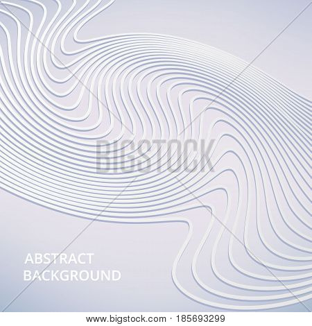 Vector soft color background of abstract waves. White elegant lines, business background vector wave lines. Gray lines abstract swoosh smooth background wave business layout template.