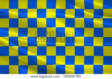 Flag of Dreux is a commune in the Eure-et-Loir department in northern France. 3D illustration