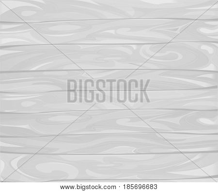 Vector white retro wood textured background with horizontal planks, grunge vintage wooden texture timbers
