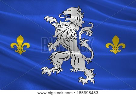 Flag of Nogent-le-Rotrou is a commune in the Eure-et-Loir department in northern France. 3D illustration