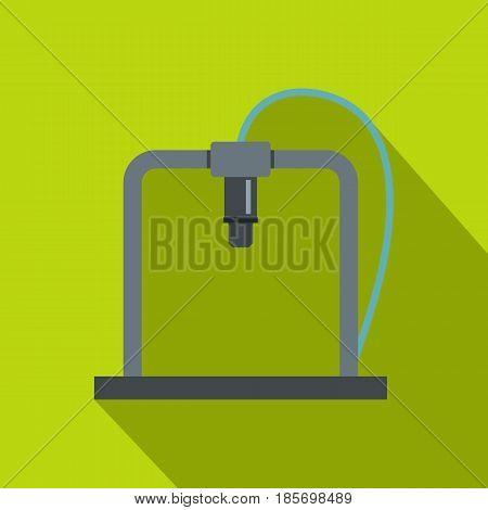 3D printer frame icon. Flat illustration of 3D printer frame vector icon for web on lime background