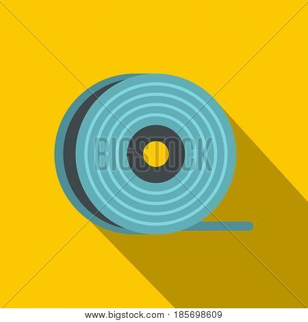 Abs or pla filament coil icon. Flat illustration of abs or pla filament coil vector icon for web on yellow background