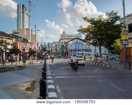 Penang, Malaysia - June 1, 2016: The urban scenery of Penang Road at George town , Penang State, Malaysia.