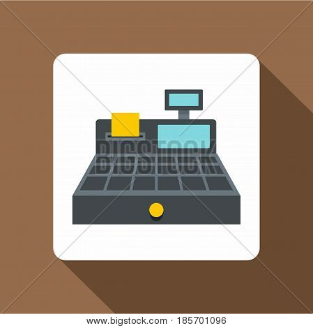 Sale cash register icon. Flat illustration of sale cash register vector icon for web