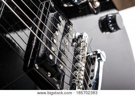 Electric guitar parts . close up .