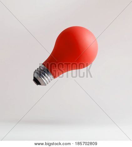 Red Light Bulbs Floating