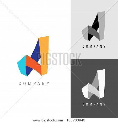 Logo design element. Letter symbol a. Vector illustration