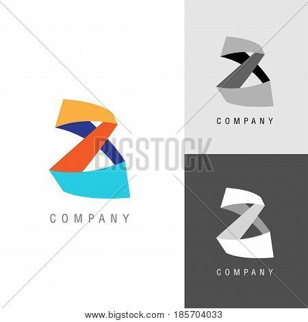 Logo design element. Eight or infinity symbol. Vector illustration