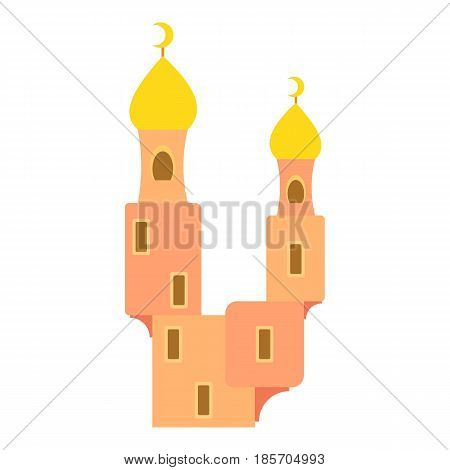 Domes of mosque icon. Cartoon illustration of domes of mosque vector icon for web