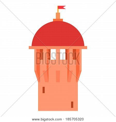 Red ancient dome of the castle icon. Cartoon illustration of red ancient dome of the castle vector icon for web