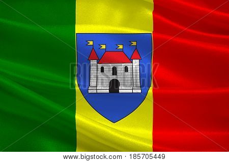 Flag of Chateauroux is the capital of the Indre department in central France. 3D illustration