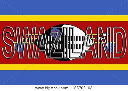 Flag Of Swaziland Word.