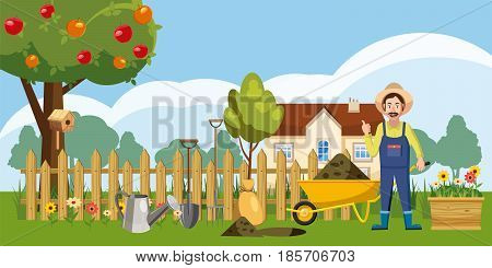 Gardener homestead icons set. Cartoon illustration of 16 gardener homestead vector icons for web