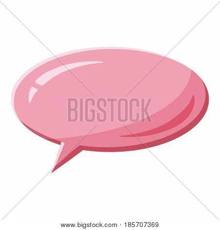 Pink speech bubble oval shape icon. Cartoon illustration of pink speech bubble oval shape vector icon for web
