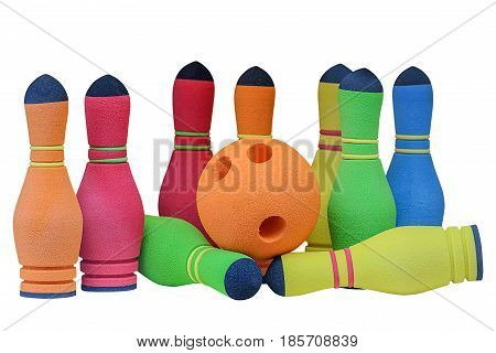 image of toy bowling isolated on white background