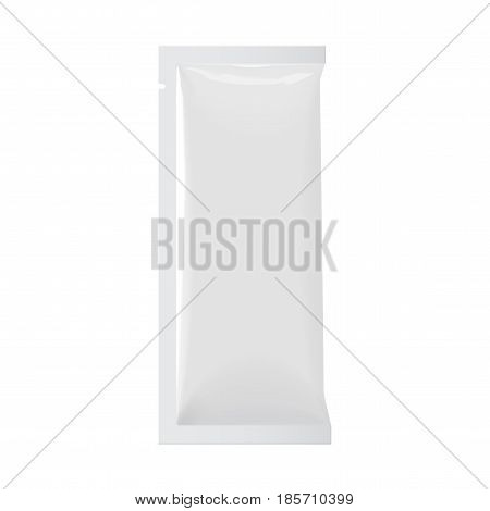 Realistic White color Blank template Packaging Foil for cosmetics. vector illustration.