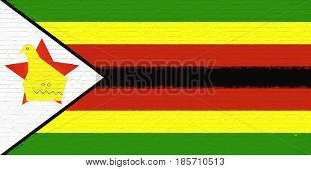 Flag Of Zimbabwe Wall.