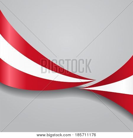 Austrian flag wavy abstract background. Vector illustration.