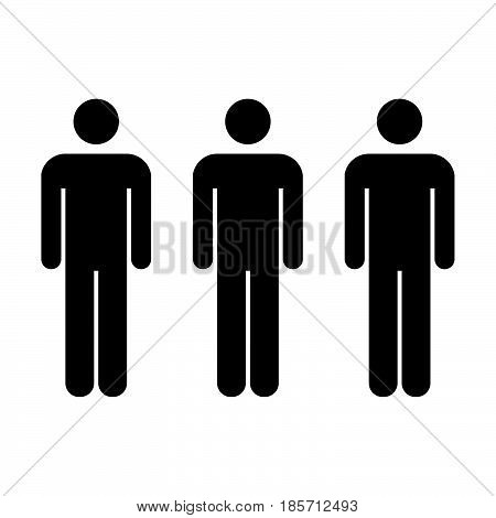 People Icon - Vector Men Symbol in Glyph Pictogram illustration