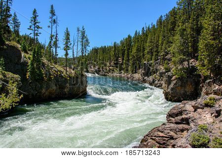 Yellowstone River in the National Park, Wyoming
