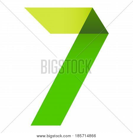 Bright Numeral Folded