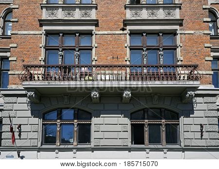 Riga, Elizabetes 7, decorative elements of the facade the end of the 19th century